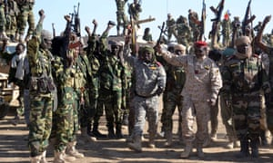 Chadian forces in the Nigerian town of Gamboru which has been retaken from Boko Haram.