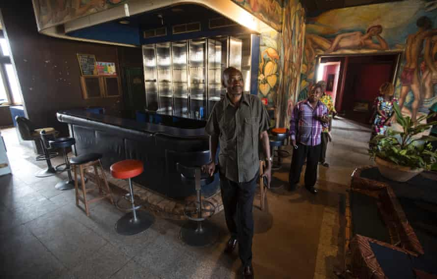 Gustave Nbangu, coordinator of the once five-star Motel Nzekele.