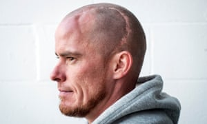 'I was out for nine months, then in my first game back, my first touch of the ball was a header. It had to be, didn't it?' says Iain Hume of returning to football following a fractured skull.