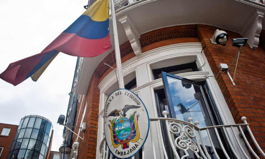Assange is at the Ecuadorian embassy in central London.