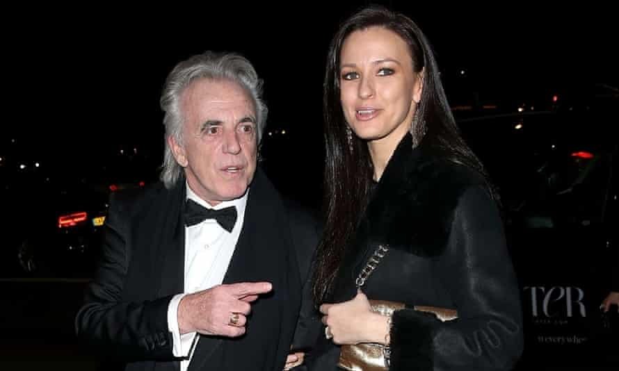 Peter Stringfellow and his wife Bella Wright were among guests at the Conservatives' Black and White ball.