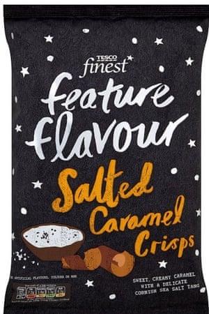 Salted caramel crisps
