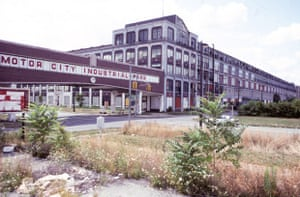Former Packard Plant, E. Grand Blvd., at Concord, Detroit 1991