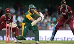 Hashim Amla in action for South Africa against West Indies.