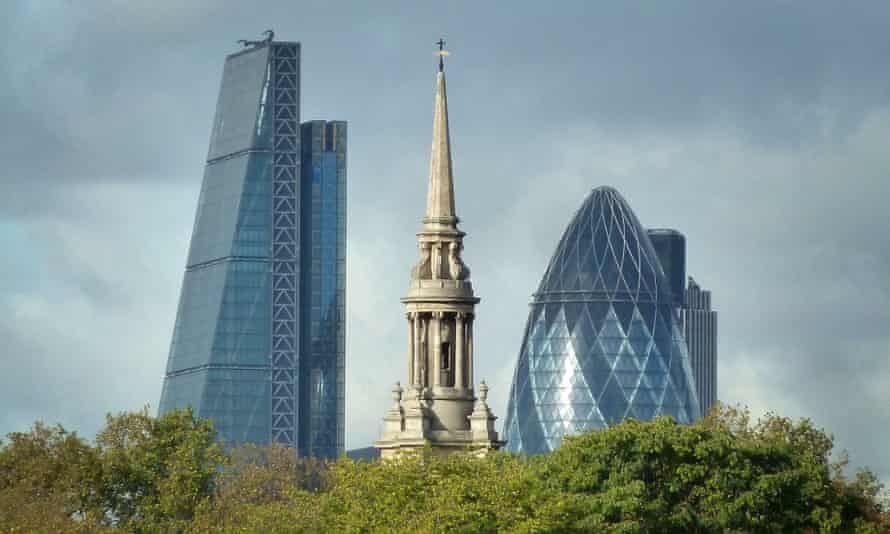 The financial district in central London.