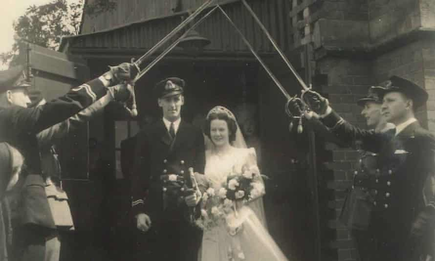 Ida and Cecil Nixon married in May 1944 in London with a naval guard of honour.