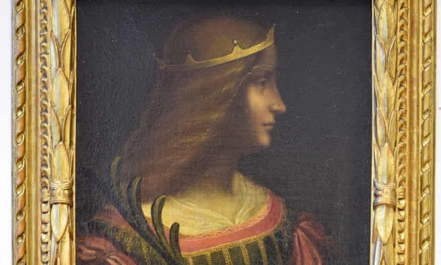 The portrait of Isabella d'Este, believed to be by Leonardo da Vinci, which was seized from a bank by police in the Swiss canton of Ticino.
