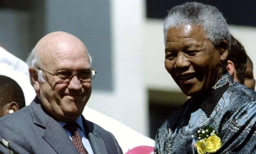 Nelson Mandela and FW de Klerk in 1996.