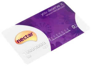 A Nectar loyalty card. Supermarkets use them to track who buys what and when.