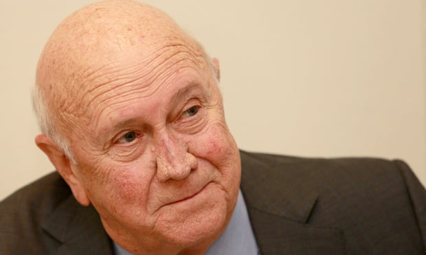 What is a good opinion question for a paper about F.W De Klerk?