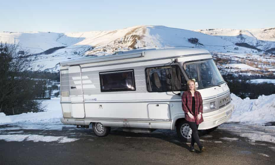 Emma Jane Unsworth with a campervan