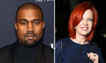 Space invader … Kanye West and Shirley Manson. Photographs: Rex, Getty