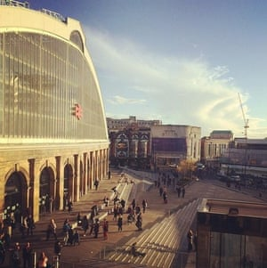The view from my bedroom window. A typical day in busy Liverpool Lime Street