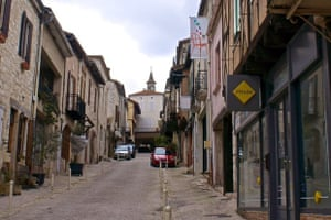 """La rue St Pierre, a village in the Lot et Garonne, south-west France This village is a """"Bastide"""", dating from 13th century. A busy commercial centre up to the 1960s, things have changed, but still a very pleasant place to live"""