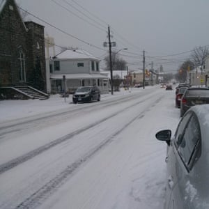 Perth, Ontario, Canada. Gore St (Main St) looking toward town centre
