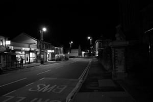 Commercial Street, Risca An unusually quiet Saturday night in Risca, South Wales