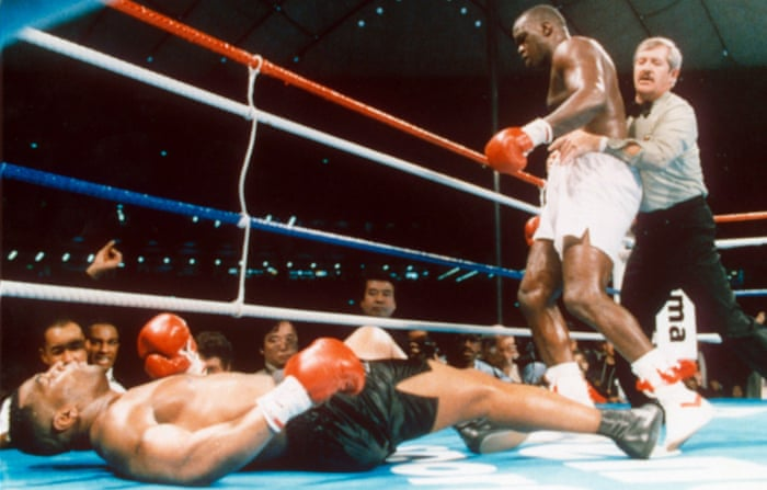From the vault mike tyson is knocked out by 421 underdog buster from the vault mike tyson is knocked out by 421 underdog buster douglas sport the guardian malvernweather Gallery