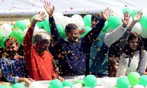 Aam Aadmi Party win election in Delhi