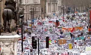 The massive demonstration against war in Iraq, February 2003. Photograph: Sipa Press/Rex Features