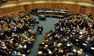 The General Synod was questioned over the cost of bishops' homes, amid revelations including how the average cost of maintenance in 2013 was £61,079 per house.