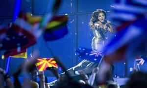 Jessica Mauboy performs during the second semi-final of the 2014 Eurovision Song Contest in Copenhagen.
