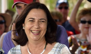 Queensland Labor leader Annastacia Palaszczuk and the new member for Morayfield Mark Ryan (left) address supporters in the suburb of Burpengary in Brisbane's north, Sunday, Feb. 1, 2015. Ms Palaszczuk could form a government after yesterday's state election that saw former premier Campbell Newman lose his seat of Ashgrove and retiring from politics. (AAP Image/Dan Peled) NO ARCHIVINGNEWSCURRENT AFFAIR