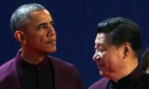 Barack Obama and Xi Jinping at the Apec leaders' meeting in November 2014.
