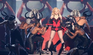 Madonna performing at the Grammys