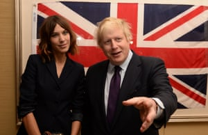 Mayor of London Boris Johnson meets Alexa Chung at a reception and dinner in New York hosted by the British Fashion Council.