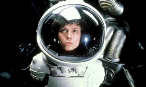 Alone out there ... Sigourney Weaver in Alien