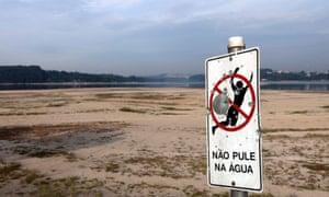 brazil drought dried reservoir