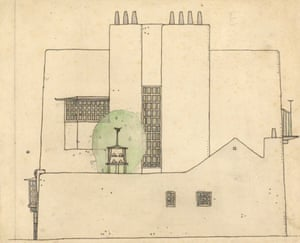 Artists house in the country by Charles Rennie Mackintosh.