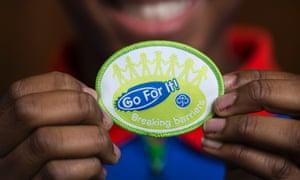 Girl Guides Breaking Barriers badge