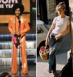 What a choice. Prince at the Grammy's in 2015 vs. Jane Birkin in 1974.