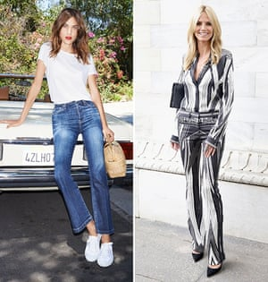 Alexa Chung and Heidi Klum. Their names rhyme but where ankle-flashing is concerned they find little common ground.