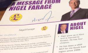Farage leaflet Thanet