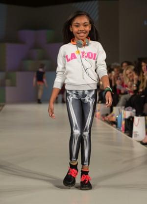 Legging it: a model wearing La Loi at Global Kids Fashion Week.