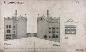 'A balance of artistry and use, the exquisite and the everyday': one of Mackintosh's original drawings for the Glasgow School of Art, 1897.