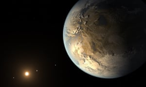 """This artist's concept released April 17, 2014 by NASA/JPL-CALTECH depicts Kepler-186f, the first validated Earth-size planet to orbit a distant star in the habitable zone. The hunt for potential life in outer space has taken a step forward -- an international team of researchers has confirmed the existence of the first Earth-sized planet within the """"habitable"""" zone of a star. The exoplanet dubbed Kepler-186f was first spotted by scientists using NASA's Kepler telescope."""