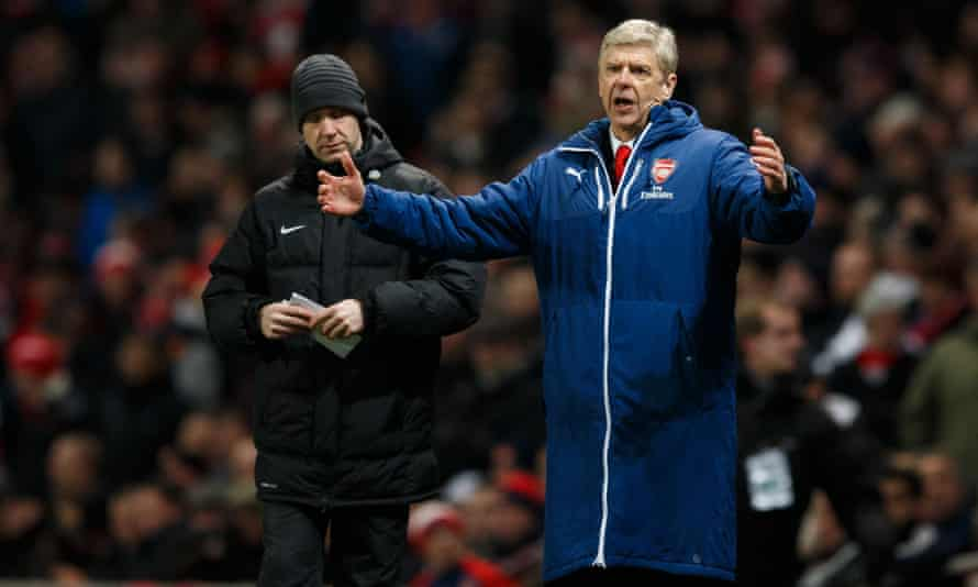 Arsene Wenger wears his coat at the Arsenal v Leicester City match on Tuesday