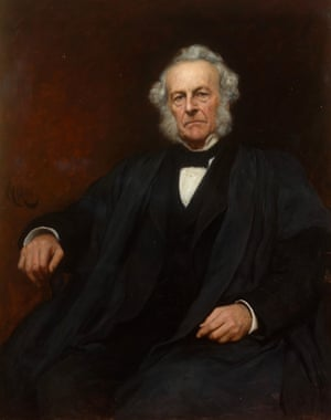 Portrait of George Gabriel Stokes (1819-1903), secretary and editor of the Transactions 1854-85.