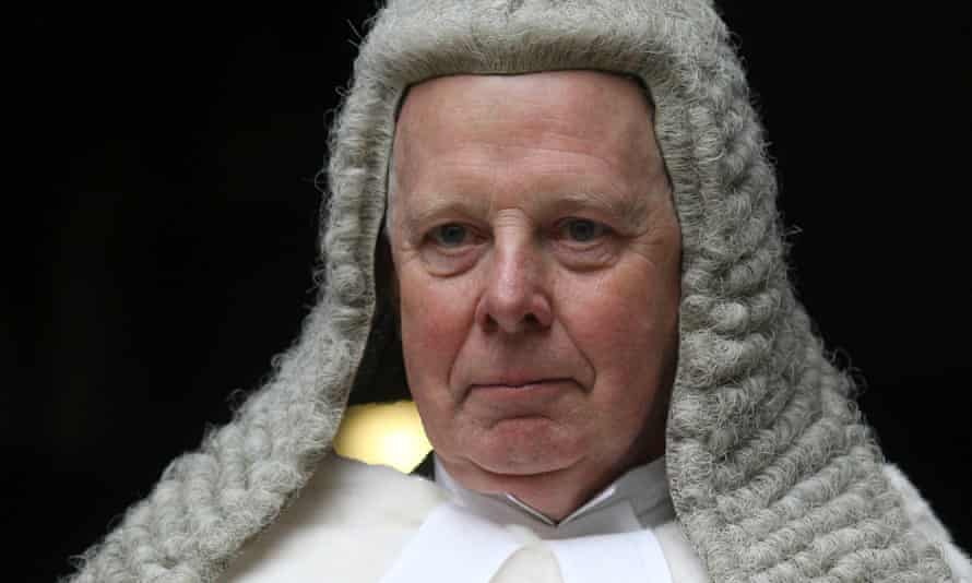 The lord chief justice of England and Wales, Lord Thomas.