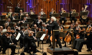 Sir Simon Rattle conducts the Berliner Philharmoniker at the Barbican as part of The London Residency 2015 on 10 February 2015.