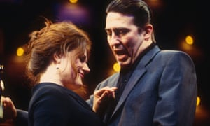 Sally Dexter and Ciaran Hinds in Closer by Patrick Marber at the National Theatre in 1997.
