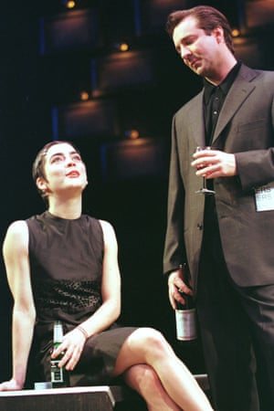 Liza Walker with Neil Pearson in the West End transfer of Closer at the Lyric theatre in 1998.