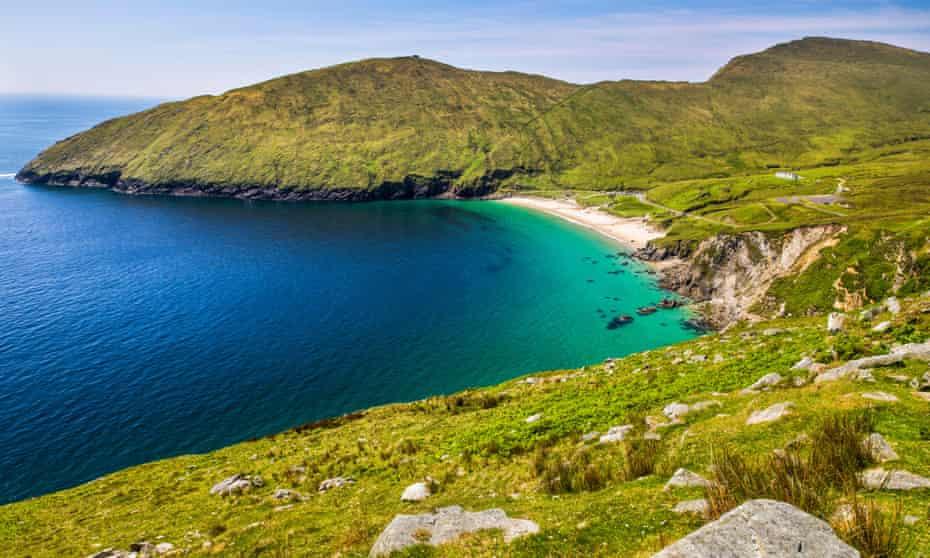 Keem Strand on Achill Island in County Mayo, Ireland.