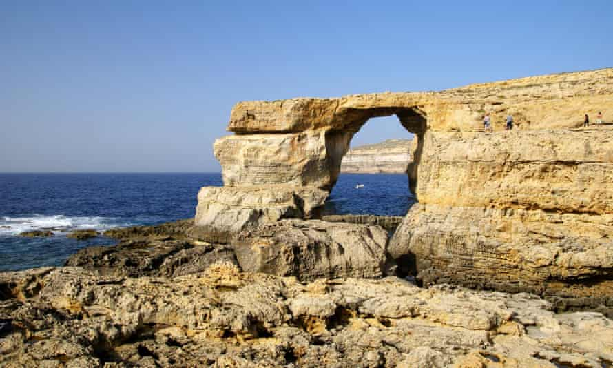 The Azure Window on Gozo Island, the oldest rock found on the Maltese islands.