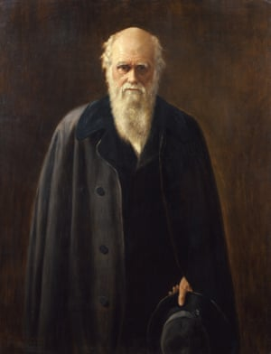 1912 portrait of Charles Darwin, 1809-1882, by Mabel Beatrice Messer after John Collier