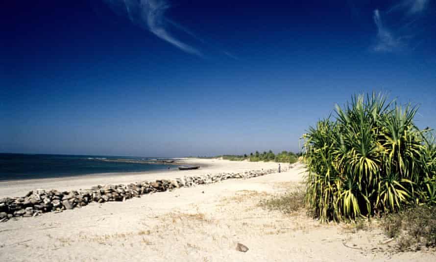 Sea beach of Saint Martin's Island at Teknaf in Cox's Bazar
