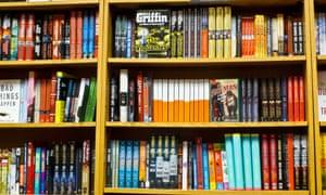 Fully Stocked Bookstore Shelves